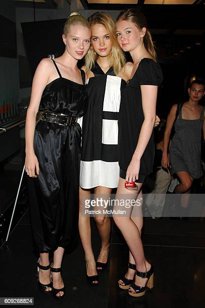 Margaret Peppey Erin Heatherton and Megan McNierney attend MARIE CLAIRE Charity Auction Party for photographer HELENA CHRISTENSEN at Milk Gallery on...