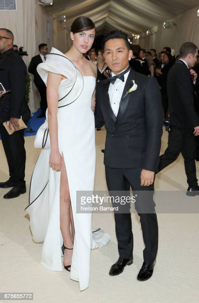 Margaret Qualley and Prabal Gurung attend the 'Rei Kawakubo/Comme des Garcons Art Of The InBetween' Costume Institute Gala at Metropolitan Museum of...