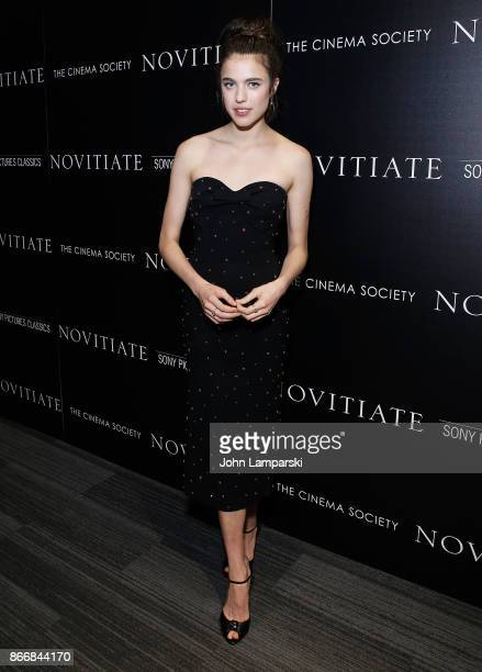 Margaret Qualley attends Miu Miu The Cinema Society host a screening of Sony Pictures Classics' 'Novitiate' at The Landmark at 57 West on October 26...