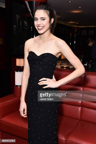 Margaret Qualley attends Miu Miu The Cinema Society host the after party for Sony Pictures Classics' 'Novitiate' at The Lambs Club on October 26 2017...