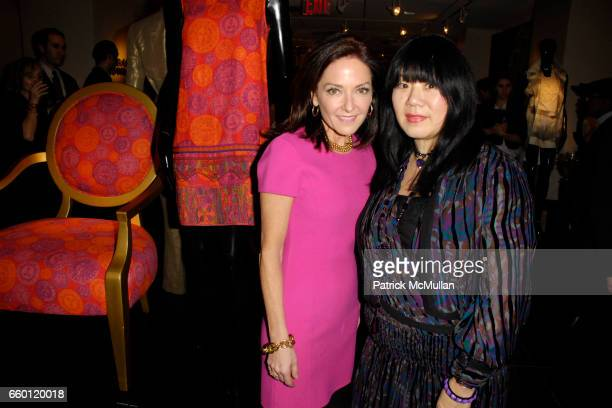 Margaret Russell and Anna Sui attend ELLE DECOR and BLOOMINGDALE'S Celebrate Reopening of Furniture Department With Auction Benefitting CFDA at...