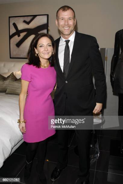 Margaret Russell and Kevin Harter attend ELLE DECOR and BLOOMINGDALE'S Celebrate Reopening of Furniture Department With Auction Benefitting CFDA at...