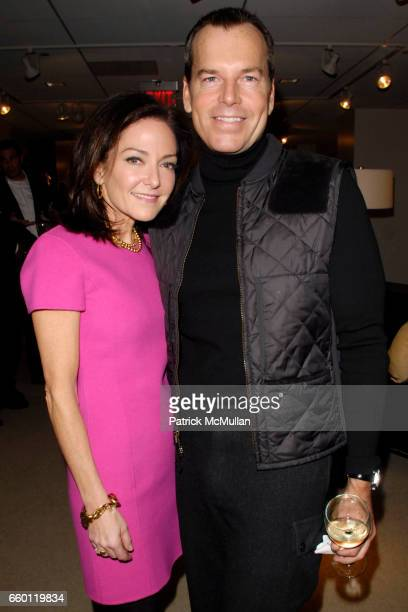 Margaret Russell and Scott Currie attend ELLE DECOR and BLOOMINGDALE'S Celebrate Reopening of Furniture Department With Auction Benefitting CFDA at...