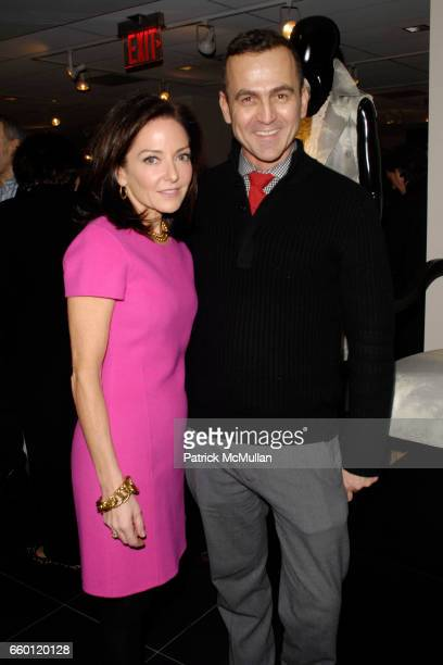 Margaret Russell and Steven Kolb attend ELLE DECOR and BLOOMINGDALE'S Celebrate Reopening of Furniture Department With Auction Benefitting CFDA at...
