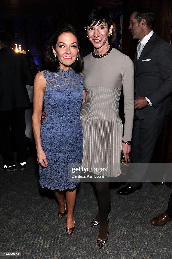 Margaret Russell, Editor In Chief of Architectural Digest and Amy Fine Collins attend The AD100 Gala Hosted By Architectural Digest Editor In Chief Margaret Russell at The Four Seasons Restaurant on November 25, 2013 in New York City.