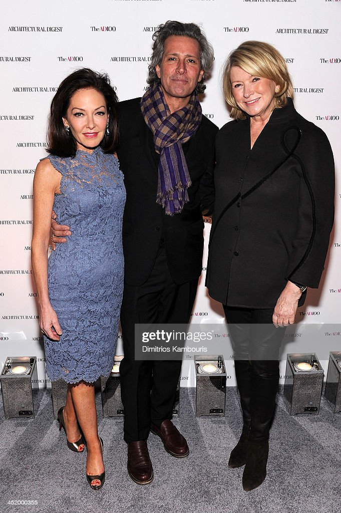 <a gi-track='captionPersonalityLinkClicked' href=/galleries/search?phrase=Margaret+Russell&family=editorial&specificpeople=221550 ng-click='$event.stopPropagation()'>Margaret Russell</a>, Editor In Chief of Architectural Digest, Carlos Souza and <a gi-track='captionPersonalityLinkClicked' href=/galleries/search?phrase=Martha+Stewart&family=editorial&specificpeople=202905 ng-click='$event.stopPropagation()'>Martha Stewart</a> attend The AD100 Gala Hosted By Architectural Digest Editor In Chief <a gi-track='captionPersonalityLinkClicked' href=/galleries/search?phrase=Margaret+Russell&family=editorial&specificpeople=221550 ng-click='$event.stopPropagation()'>Margaret Russell</a> at The Four Seasons Restaurant on November 25, 2013 in New York City.