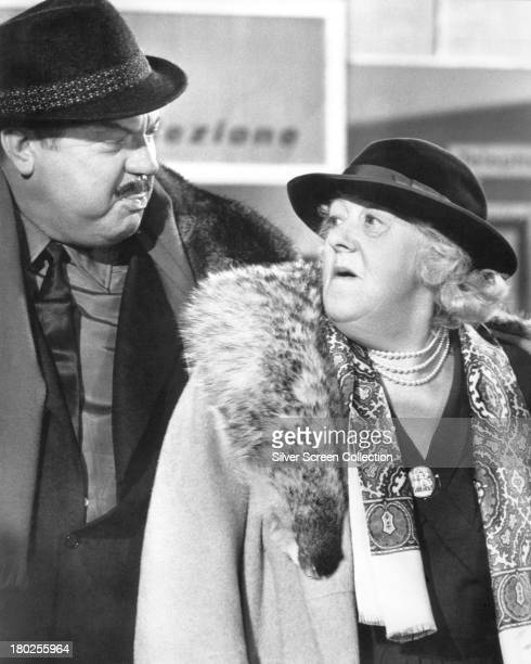 Margaret Rutherford as The Duchess of Brighton and Orson Welles as Max Buda in 'The VIPs' directed by Anthony Asquith 1963