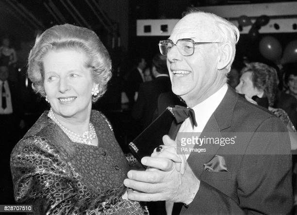 Margaret Thatcher and her husband Denis dancing during the Conservative Party Ball in Brighton