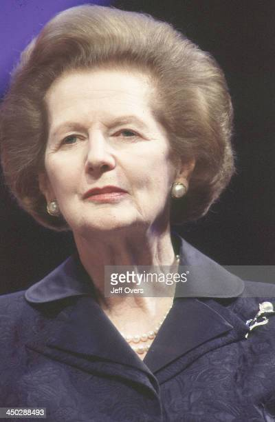 Margaret Thatcher at 1998 party conference Ex Conservative Prime Minister in profile