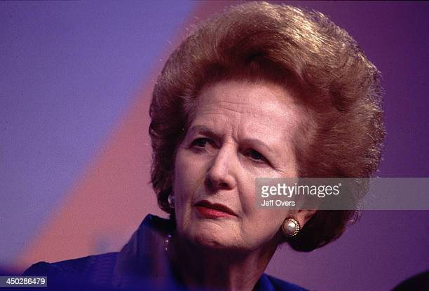 Margaret Thatcher Attending the 1997 Conservative Party Conference