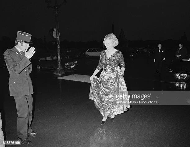 Margaret Thatcher the new leader of the British Conservative Party arrives at an event in Paris In 1975 Thatcher became the first female Prime...