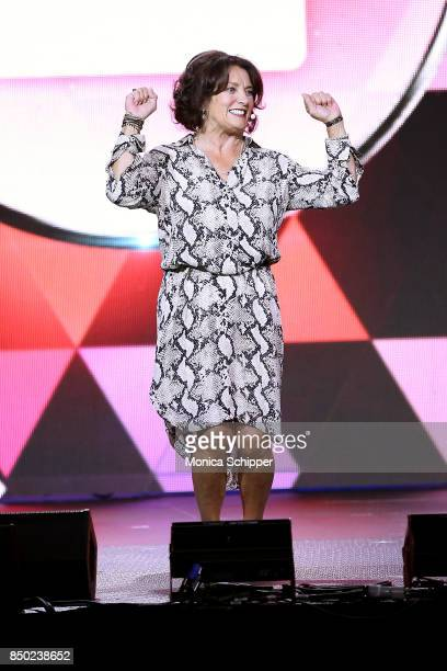 Margaret Trudeau speaks onstage at WE Day UN at The Theater at Madison Square Garden on September 20 2017 in New York City