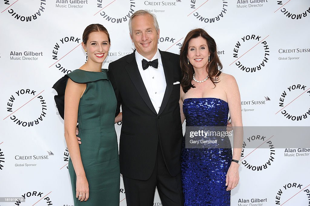 Margaret Tudor, Bobby Tudor and Phoebe Tudor attend New York Philharmonic 172nd Season Opening Night Gala at Avery Fisher Hall, Lincoln Center on September 25, 2013 in New York City.