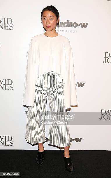 Margaret Zhang arrives ahead of the StudioW launch at David Jones Elizabeth Street Store on August 20 2015 in Sydney Australia
