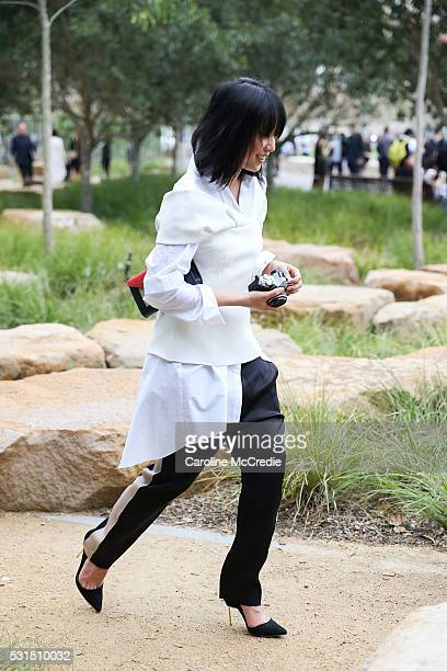 Margaret Zhang arrives at the Toni Maticevski show at Barangaroo for MercedesBenz Fashion Week Resort 17 Collections at Carriageworks on May 15 2016...