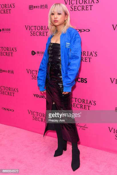 Margaret Zhang attends 2017 Victoria's Secret Fashion Show In Shanghai Pink Carpet Arrivals at MercedesBenz Arena on November 20 2017 in Shanghai...