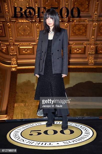 Margaret Zhang attends the #BoF500 Cocktail Event as part of the Paris Fashion Week Womenswear Spring/Summer 2017 at Hotel de Ville on October 4 2016...