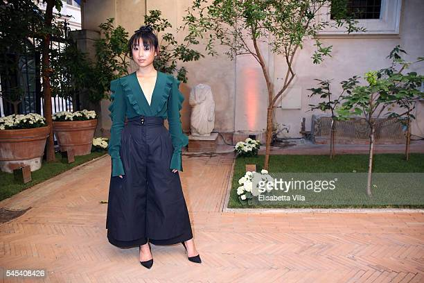 Margaret Zhang attends the Fendi Roma 90 Years Anniversary Welcome Cocktail at Palazzo Carpegna on July 7 2016 in Rome Italy