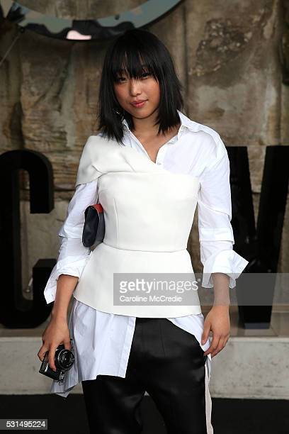 Margaret Zhang attends the MercedesBenz Presents Maticevski show at MercedesBenz Fashion Week Resort 17 Collections at The Cutaway Barangaroo Reserve...