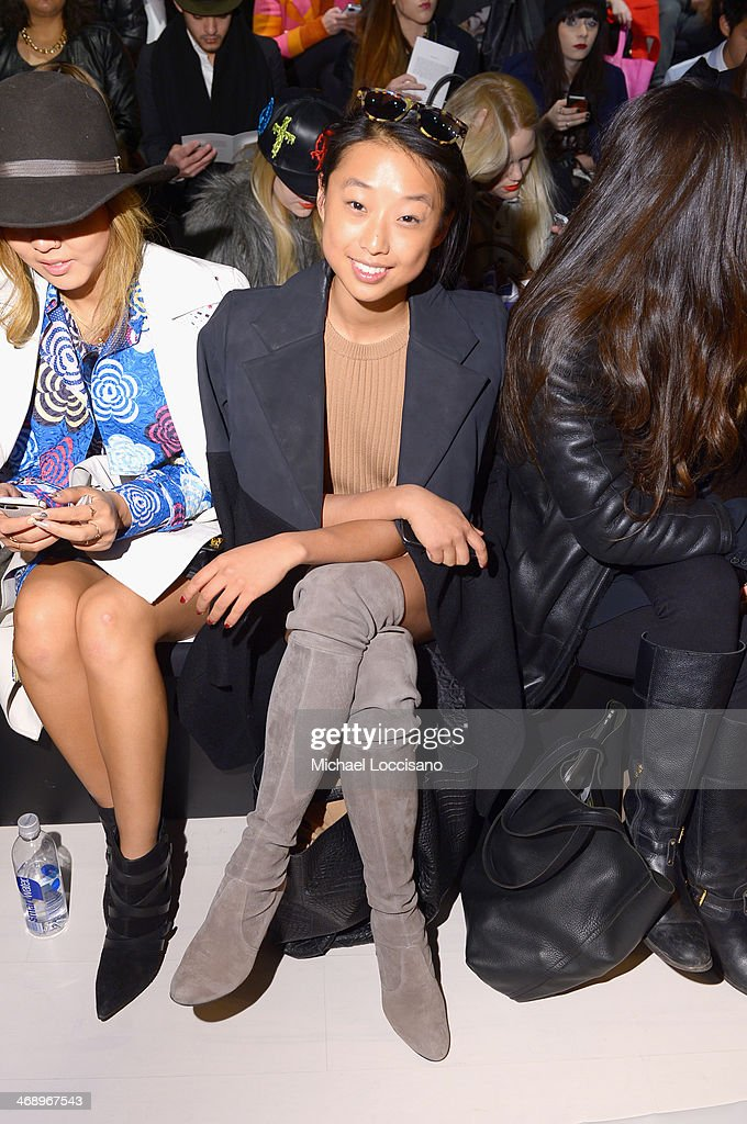 Margaret Zhang attends the Nanette Lepore fashion show during Mercedes-Benz Fashion Week Fall 2014 at The Salon at Lincoln Center on February 12, 2014 in New York City.
