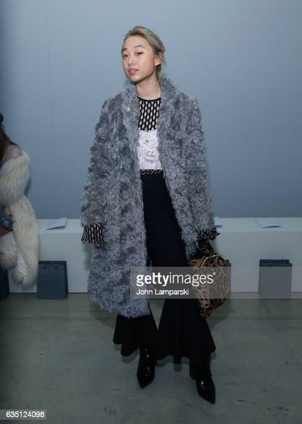 Margaret Zhang attends Zimmermann fashion show on February 2017 New York Fashion Week on February 13 2017 in New York City