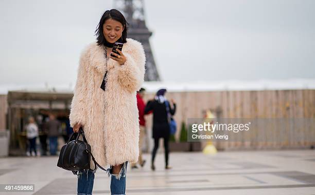 Margaret Zhang during the Paris Fashion Week Womenswear Spring/Summer 2016 on October 5 2015 in Paris France
