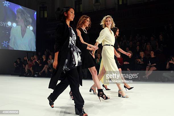 Margaret Zhang Kate Waterhouse Zanita Whittington and Sara Donaldson walk the runway in the finale of Fashion Bloggers on Style Spring Edits show...
