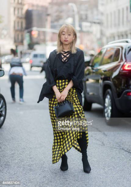 Margaret Zhang seen in the streets of Manhattan outside Zimmermann during New York Fashion Week on September 11 2017 in New York City