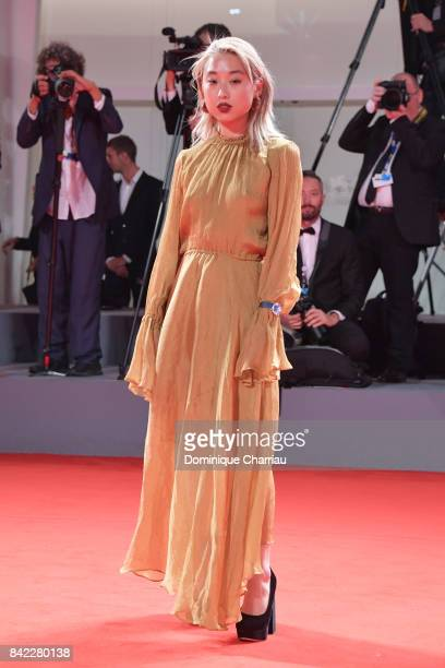 Margaret Zhang walks the red carpet ahead of the 'Victoria Abdul' screening and JaegerLeCoultre Glory To The Filmaker Award 2017 during the 74th...