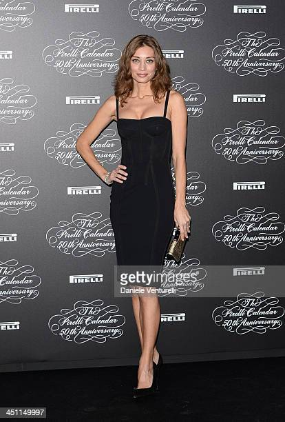 Margareth Madè attends the Pirelli Calendar 50th Anniversary Red Carpet on November 21 2013 in Milan Italy