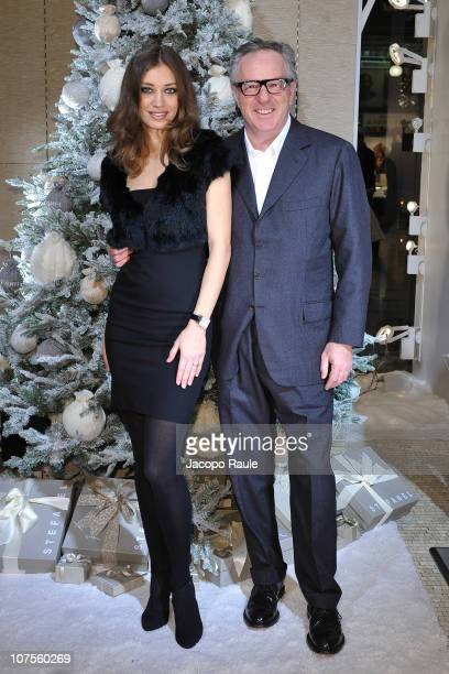 Margareth Made and Giuseppe Stefanel attend Stefanel Hosts White Christmas Cocktail Party on December 13 2010 in Milan Italy