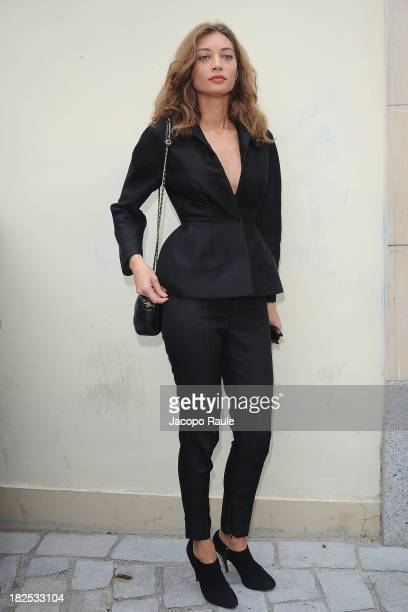 Margareth Made arrives at Giambattista Valli Feshion Show during Paris Fashion Week Womenswear SS14 Day 7 on September 30 2013 in Paris France