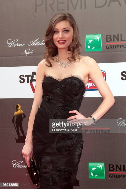 Margareth Made attends 'David Di Donatello' Italian Movie Awards on May 7 2010 in Rome Italy