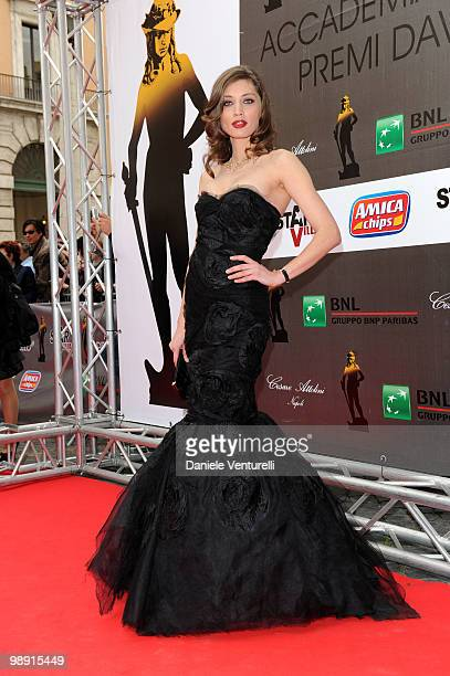 Margareth Made attends the 'David Di Donatello' movie awards at the Auditorium Conciliazione on May 7 2010 in Rome Italy