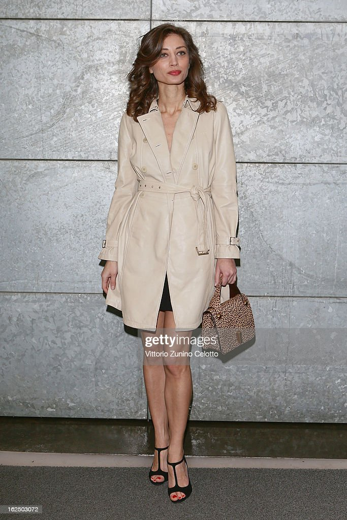 Margareth Made attends the Emporio Armani fashion show as part of Milan Fashion Week Womenswear Fall/Winter 2013/14 on February 24, 2014 in Milan, Italy.