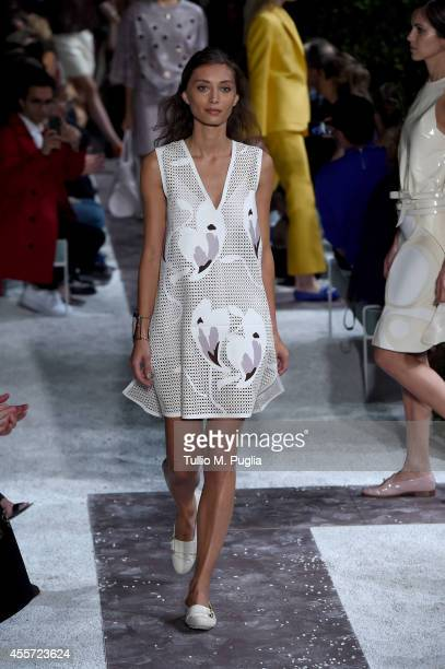 Margareth Made walks the runway during the Tod's show as a part of Milan Fashion Week Womenswear Spring/Summer 2015 on September 19 2014 in Milan...