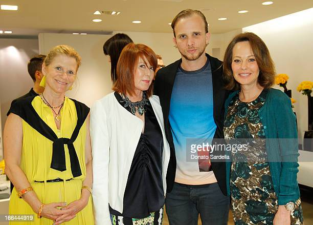 Margareth Preissman Mary Martin Christopher De Vos and Tawny Sanders attend Saks Fifth Avenue presents Peter Pilotto at Saks Fifth Avenue Beverly...