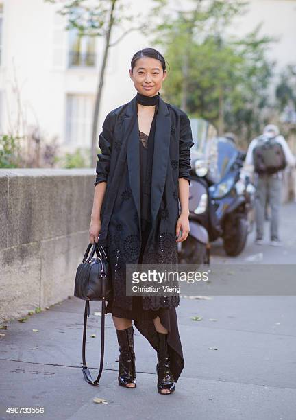 Margareth Zhang during Paris Fashion Week Womenswear Spring/Summer 2016 on September 30 2015 in Paris France