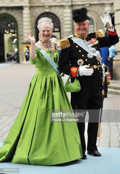 Margarethe II and Prince Henrik of Denmark attend the Wedding of Crown Princess Victoria of Sweden and Daniel Westling on June 19 2010 in Stockholm...