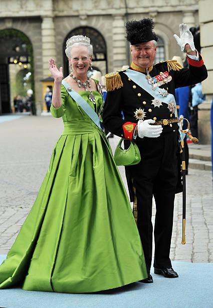 Margarethe Ii And Prince Henrik Of Denmark Attend The Wedding Crown Princess Victoria Sweden
