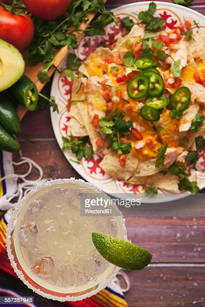 Margarita and chicken nachos, Cinco De Mayo party