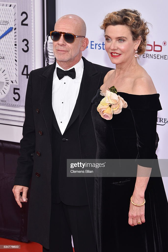 Margarita Broich and Martin Wuttke attends the Lola - German Film Award (Deutscher Filmpreis) on May 27, 2016 in Berlin, Germany.