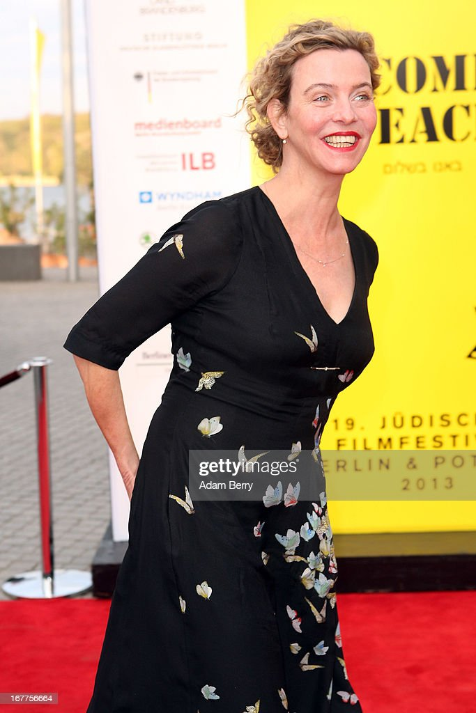 Margarita Broich arrives for the opening of the 19th Jewish Film Festival Berlin & Potsdam on April 29, 2013 in Potsdam, Germany. The festival was founded in 1995 on the 50th anniversary of the end of World War II.