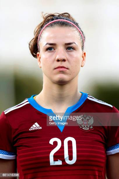 Margarita Chernomyrdina of Russia during the Algarve Cup Tournament Match between Sweden W and Russia W on March 8 2017 in Albufeira Portugal