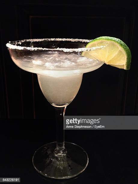 Margarita Cocktail Against Black Background