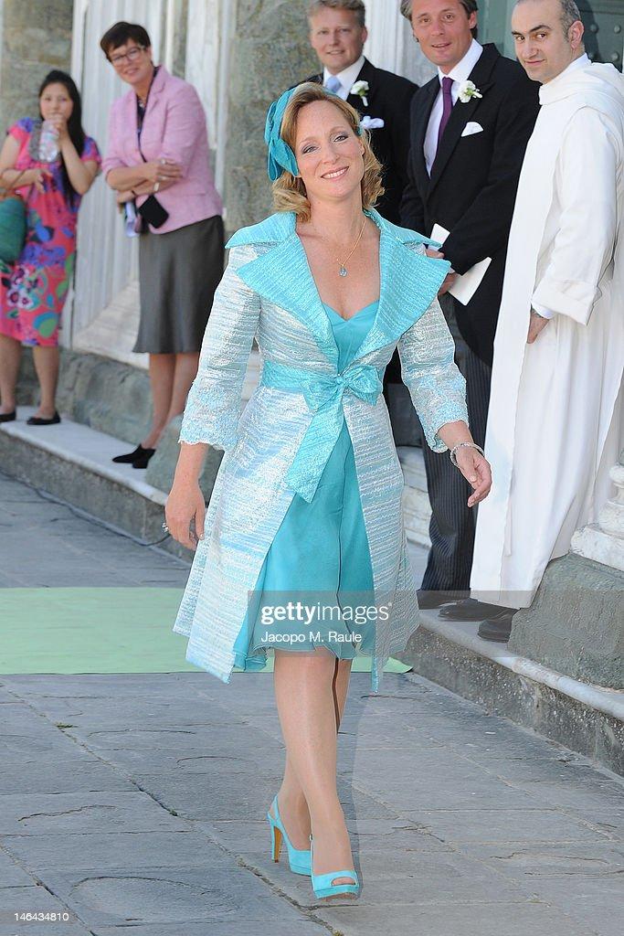 Margarita de Borbon arrives for the Princess Carolina Church Wedding With Mr Albert Brenninkmeijer at Basilica di San Miniato al Monte on June 16, 2012 in Florence, Italy.