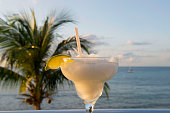 A margarita drink in Playa del Carmen on the east coast of the Yucatán Peninsula on the Caribbean Sea in the state of Quintana Roo Mexico