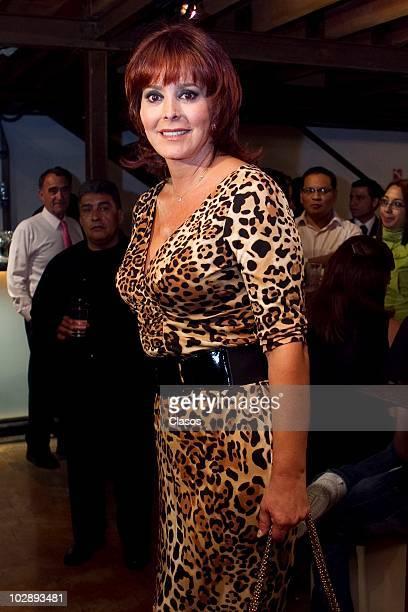 Margarita Gralia poses for a photograph at the red carpet of Cinco Mujeres Usando el Mismo Vestido at Telon de Asfalto Theater on July 13 2010 in...