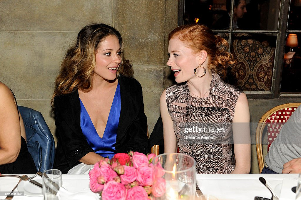 Margarita Levieva and Jessica Joffe attend Juan Carlos Obando Jewelry Collection Launch Dinner at Chateau Marmont on November 15, 2012 in Los Angeles, California.