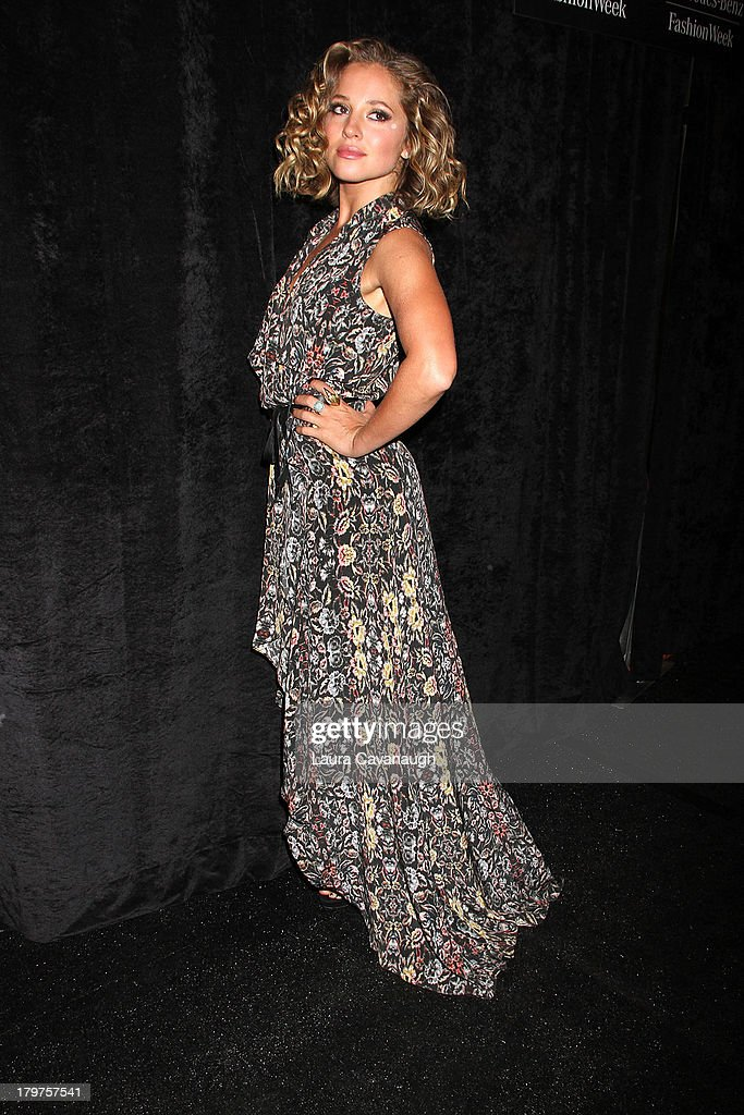 <a gi-track='captionPersonalityLinkClicked' href=/galleries/search?phrase=Margarita+Levieva&family=editorial&specificpeople=630349 ng-click='$event.stopPropagation()'>Margarita Levieva</a> attends the Nicole Miller Spring 2014 fashion show at The Studio at Lincoln Center on September 6, 2013 in New York City.